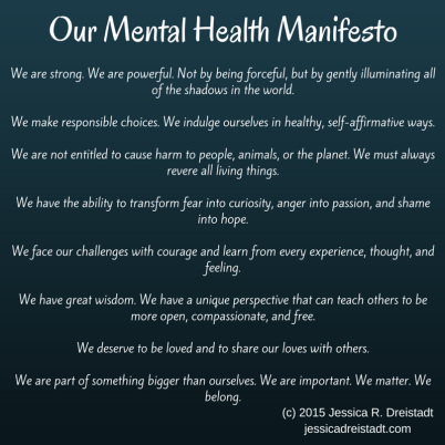 our mental health manifesto
